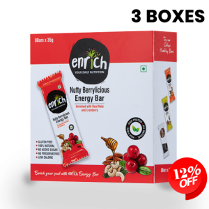3 Box Set – Nutty Berrylicious Energy Bar (24 – Pack)